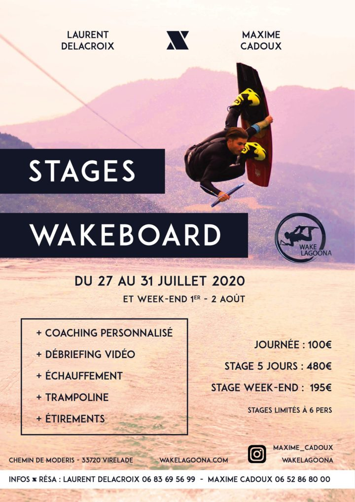 Stage Wakeboard avec Max Cadoux 2020